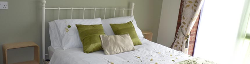 Clean, spacious and well furnished bedrooms.